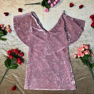 Forever 21 Pink Crushed Velvet Top